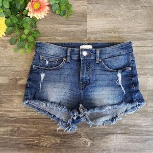 H&M | Distressed Cut Off Jean Shorts